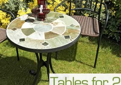 Garden tables for 2 chairs