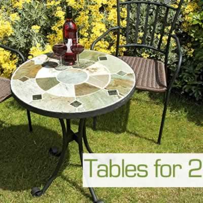 2 Seat Garden Tables