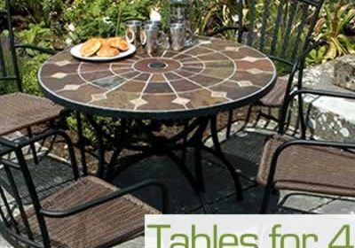 Garden tables for 4 chairs
