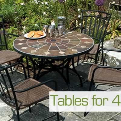 4 Seat Garden Tables