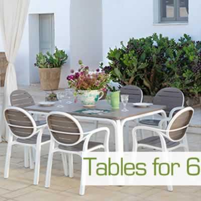 6 Seat Garden Tables