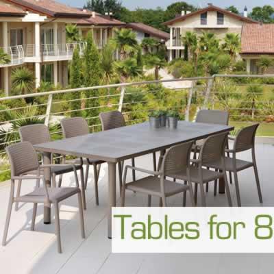 8 Seat Garden Tables