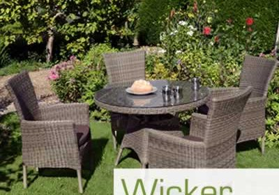 Wicker Weave effect garden furniture