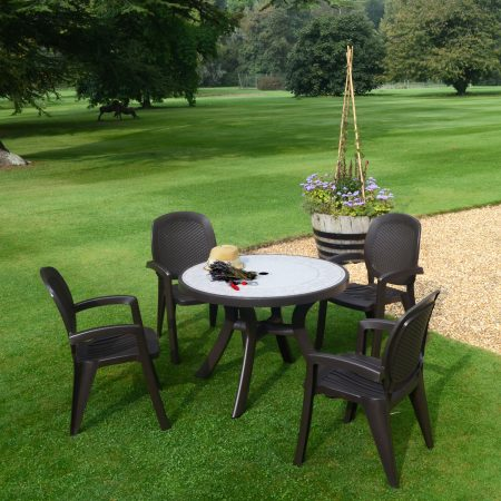 COFFEE TOSCANA 100 Ravenna with 4 CRETA Chair Set
