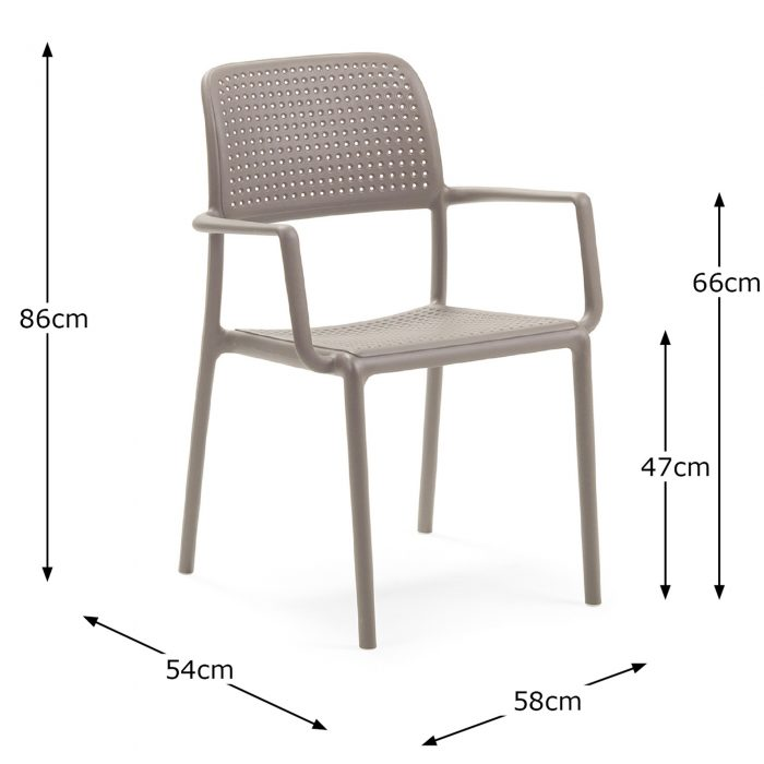 BORA CHAIR TURTLE DOVE DIMENSION MS1