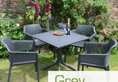 Grey resin garden furniture