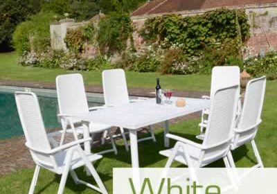 White resin garden furniture