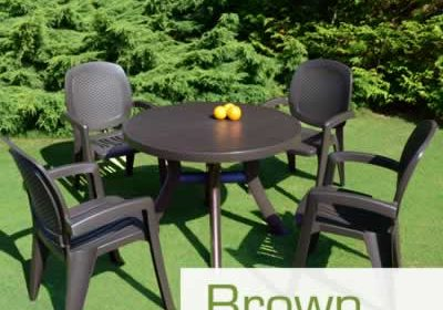 Brown resin garden furniture