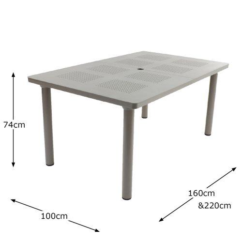 LIBECCIO TABLE TURTLE DOVE DIMENSION MS1