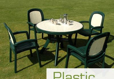 how to clean plastic resin lawn furniture