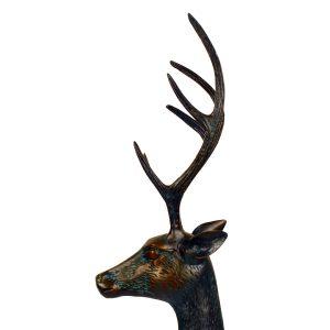 Deer Stag Large Aluminium Dark Verdigris