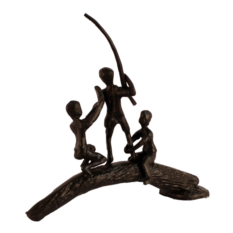Boys on a log, rear