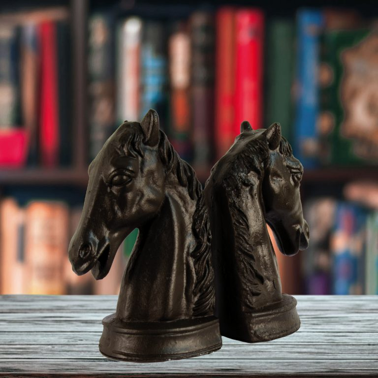 horse head bookends, main