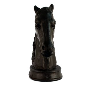 horse head bookends, end on