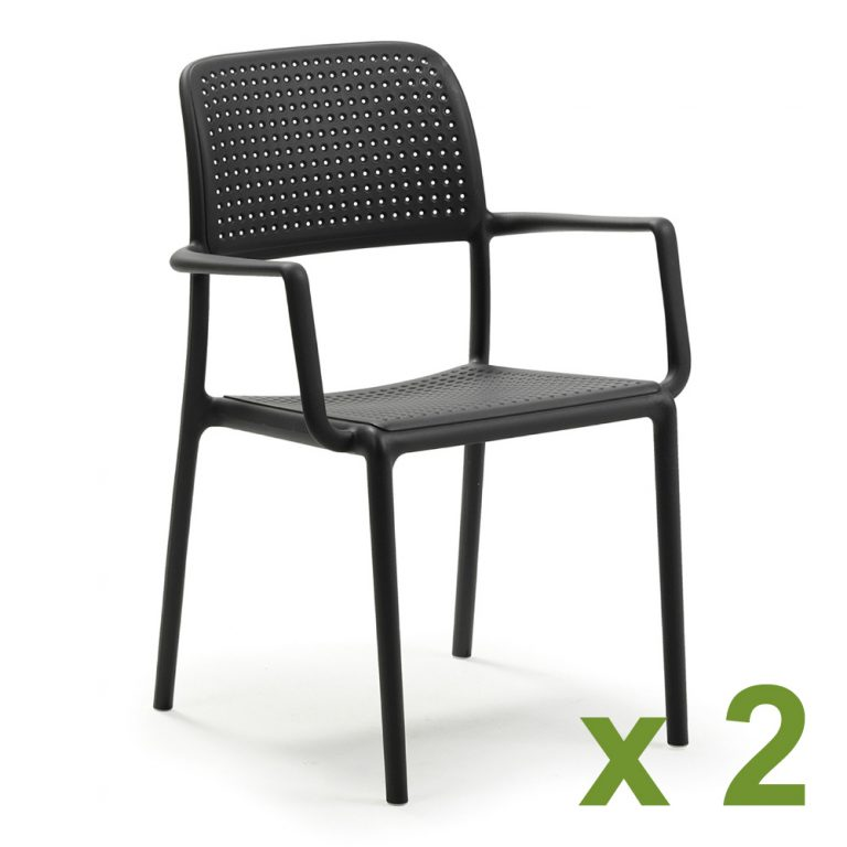Bora chair in Anthracite x2