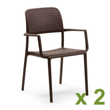 Bora chair in coffee x2