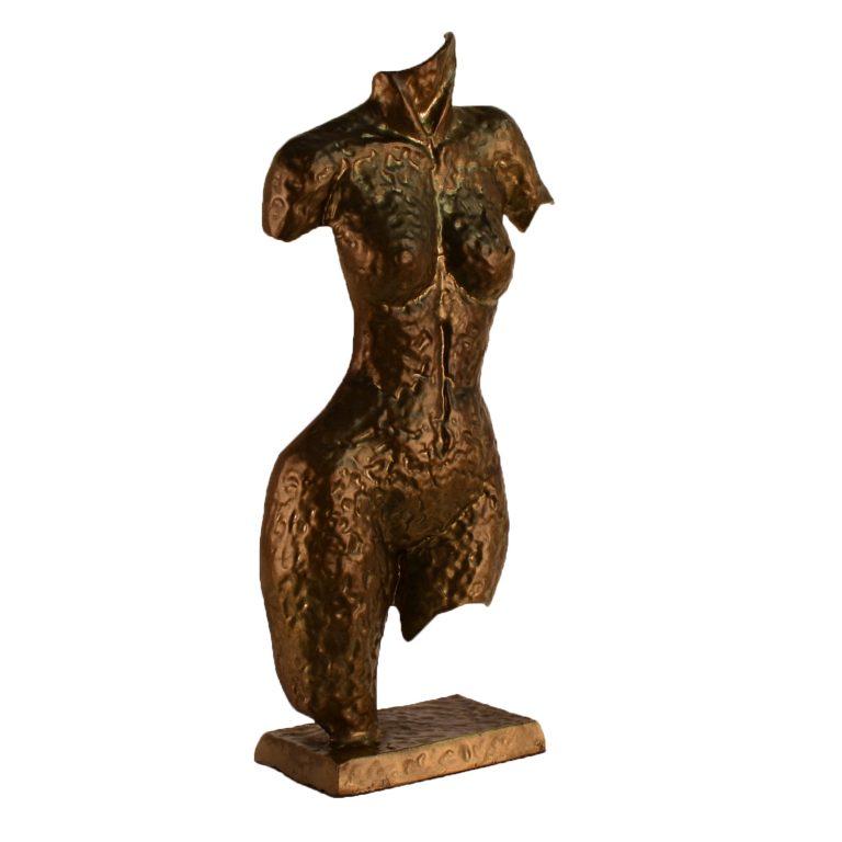 Torso sculpture angled