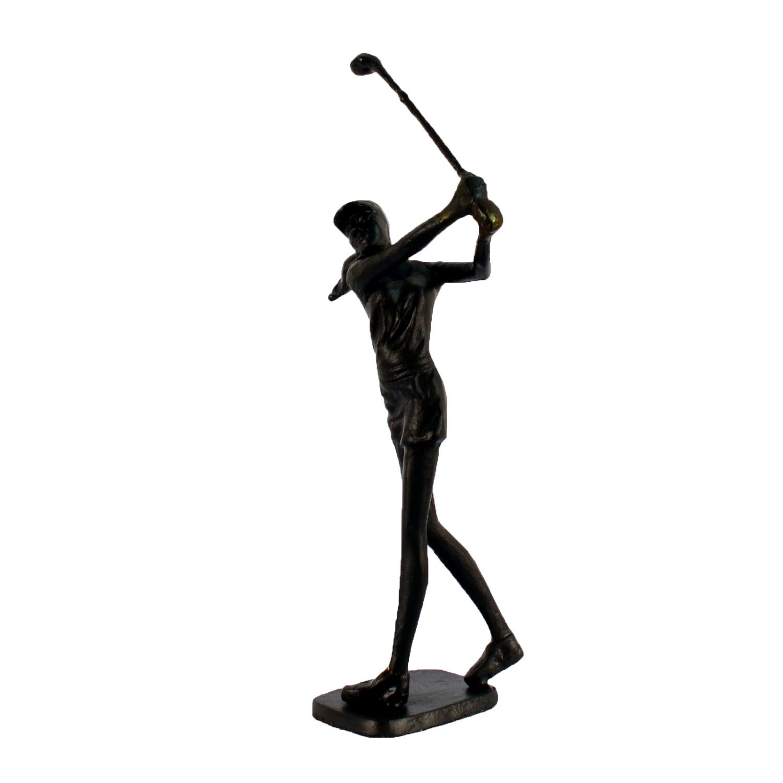 Lady golfer angled