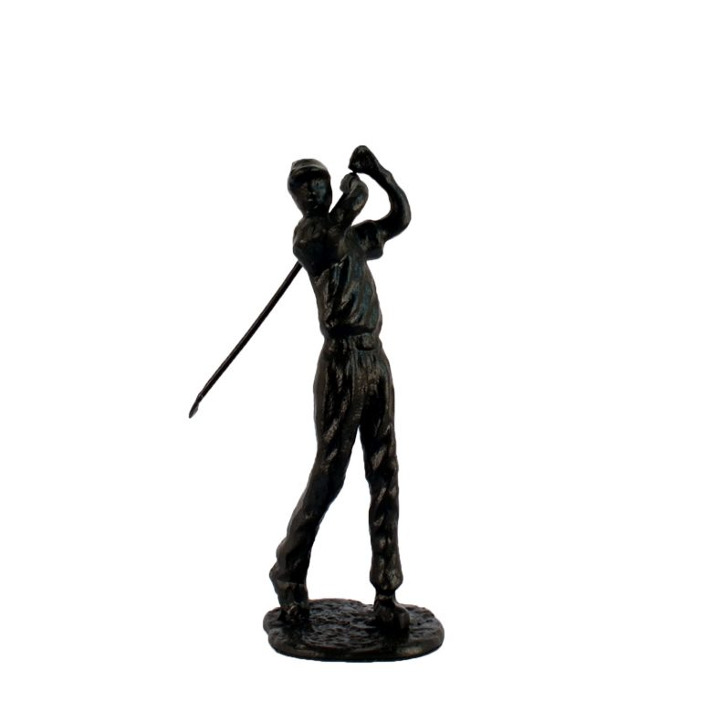 Golfer man angle