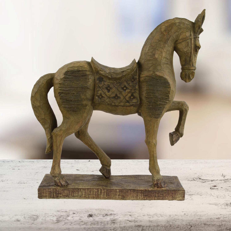 Standing horse indoor horse statue.
