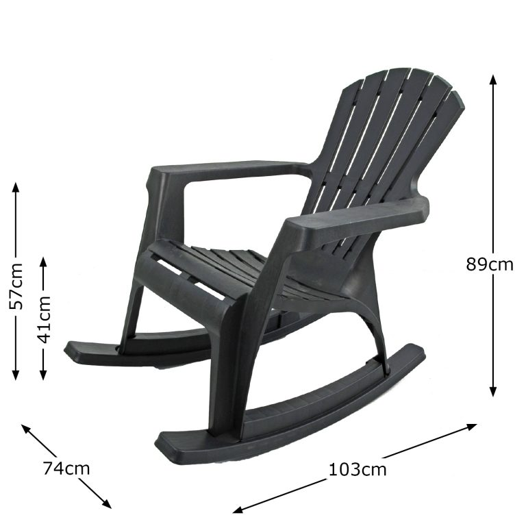 ANDRIA ROCKING CHAIR ANTHRACITE DIMENSION MS1