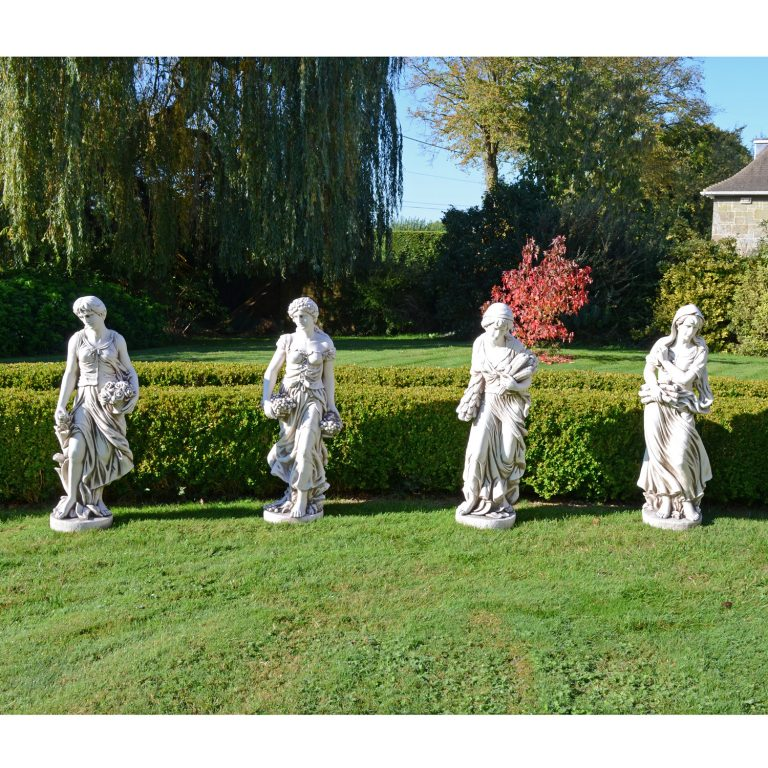 ANNIE IN AUTUMN 119CM ANTIQUE STONE EFFECT OUTDOOR GROUP1