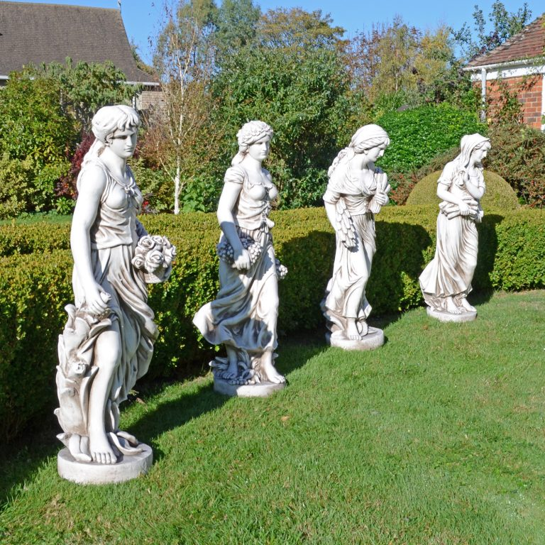 ANNIE IN AUTUMN 119CM ANTIQUE STONE EFFECT OUTDOOR GROUP2