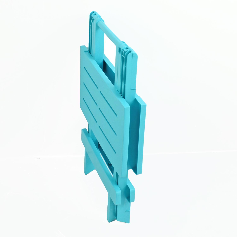 BARI SIDE TABLE BLUE FOLDED