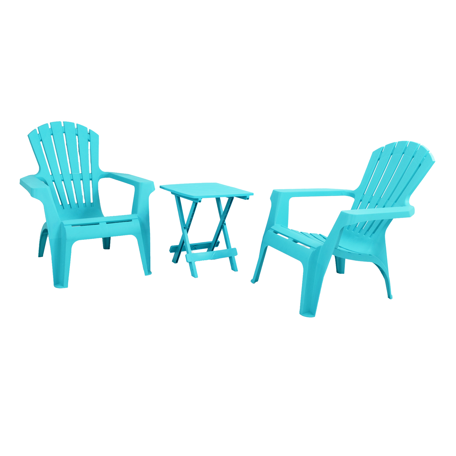 BARI SIDE TABLE WITH 2 ANDRIA CHAIRS SET BLUE