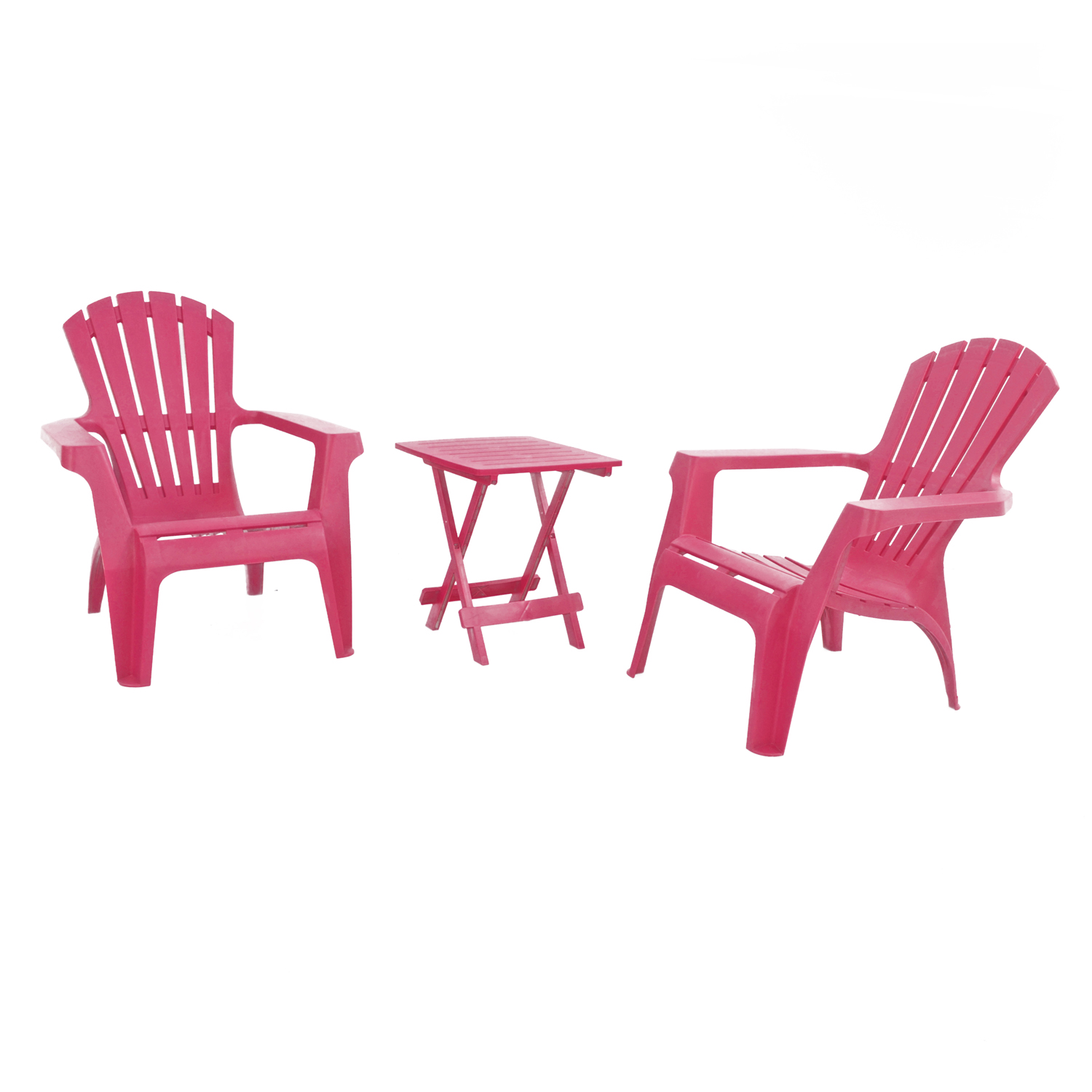BARI SIDE TABLE WITH 2 ANDRIA CHAIRS SET PINK