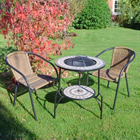 BRAVA FIRE PIT 60CM SET SAN REMO OUTDOOR 1