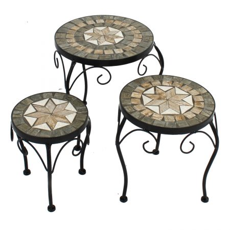 BRAVA PLANTSTAND SET OF 3 LOW 1