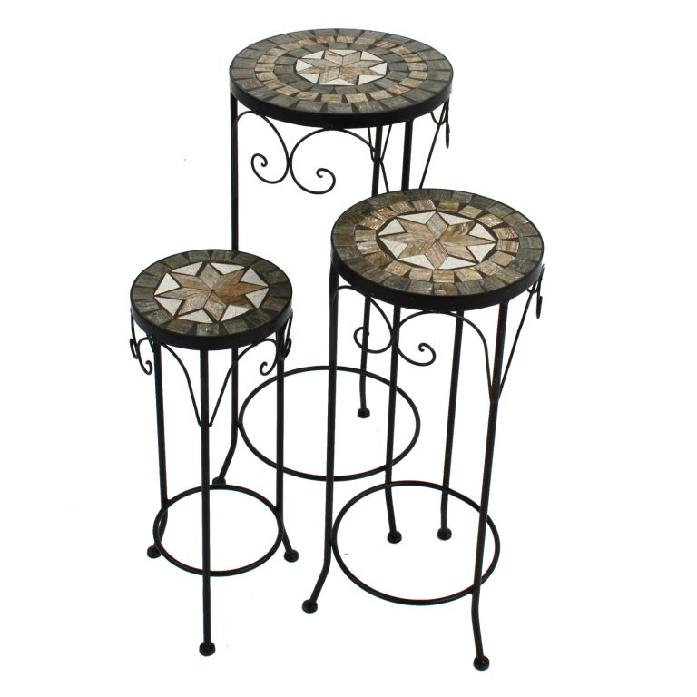 BRAVA PLANTSTAND SET OF 3 TALL 1