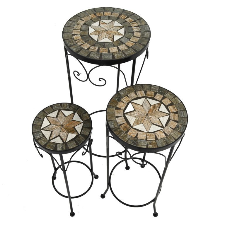 BRAVA PLANTSTAND SET OF 3 TALL 2