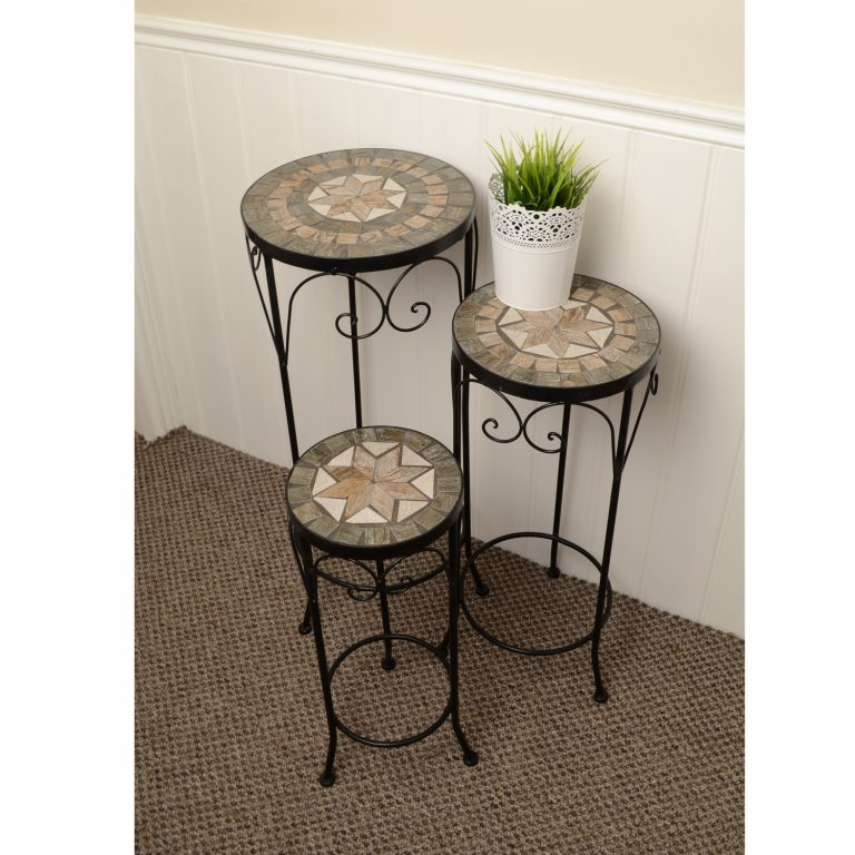 BRAVA PLANTSTAND SET OF 3 TALL OUTDOOR 1