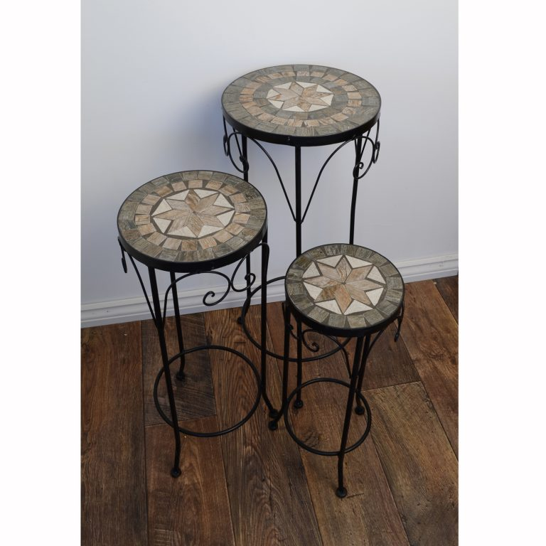 BRAVA PLANTSTAND SET OF 3 TALL OUTDOOR 2