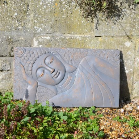 BUDDHA PLAQUE LANDSCAPE 31CM BRONZE EFFECT OUTDOOR
