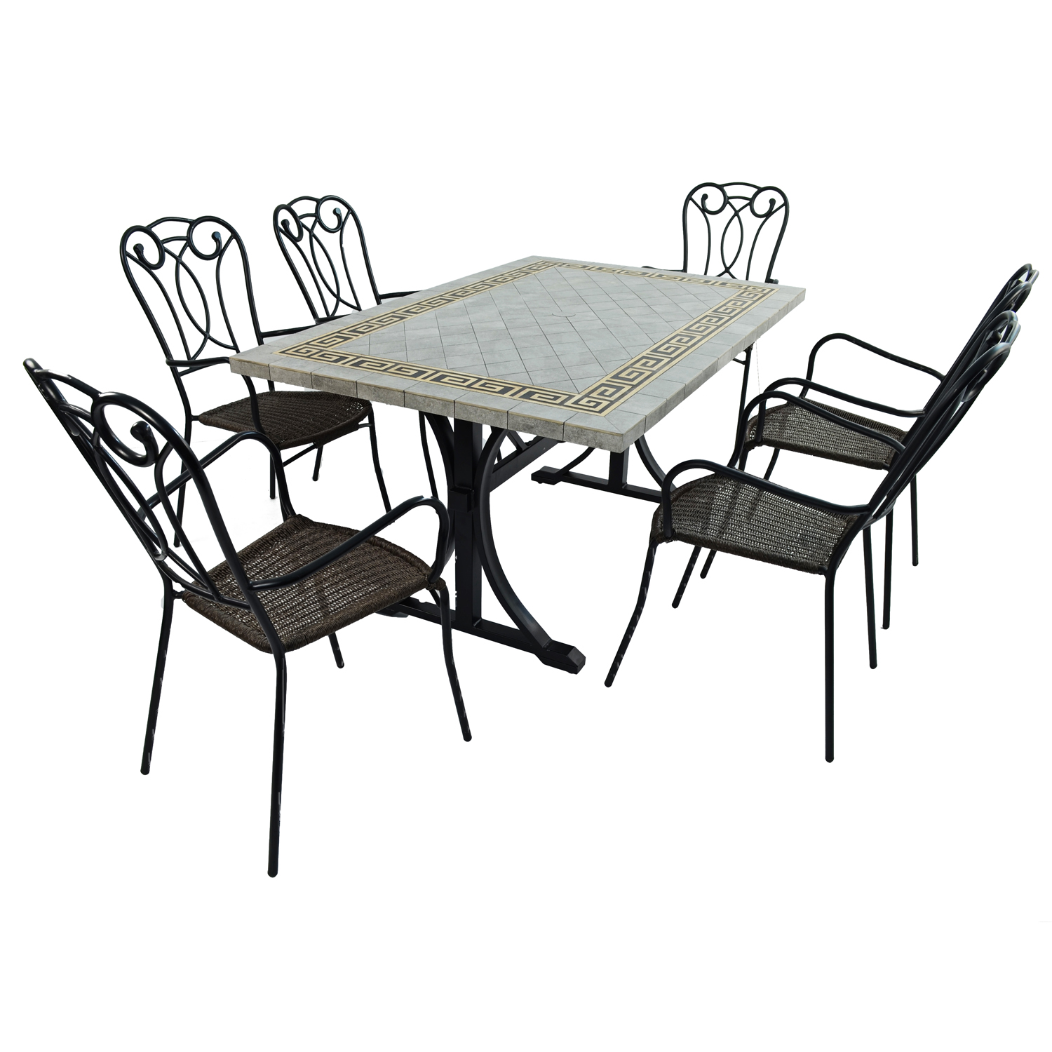 BURLINGTON DINING TABLE WITH 6 VERONA CHAIR SET