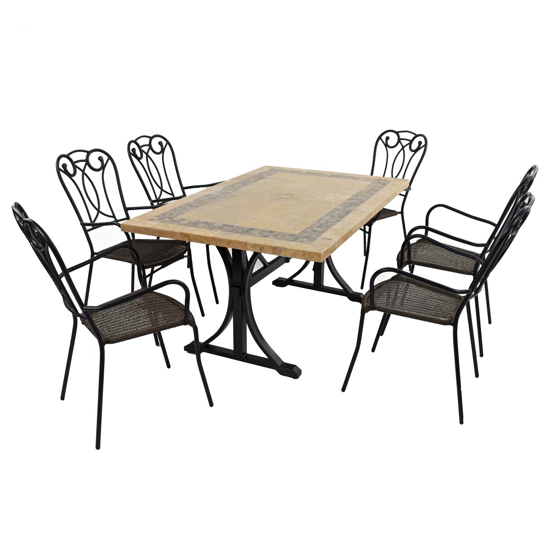 CHARLESTON DINING TABLE WITH 6 VERONA CHAIR SET