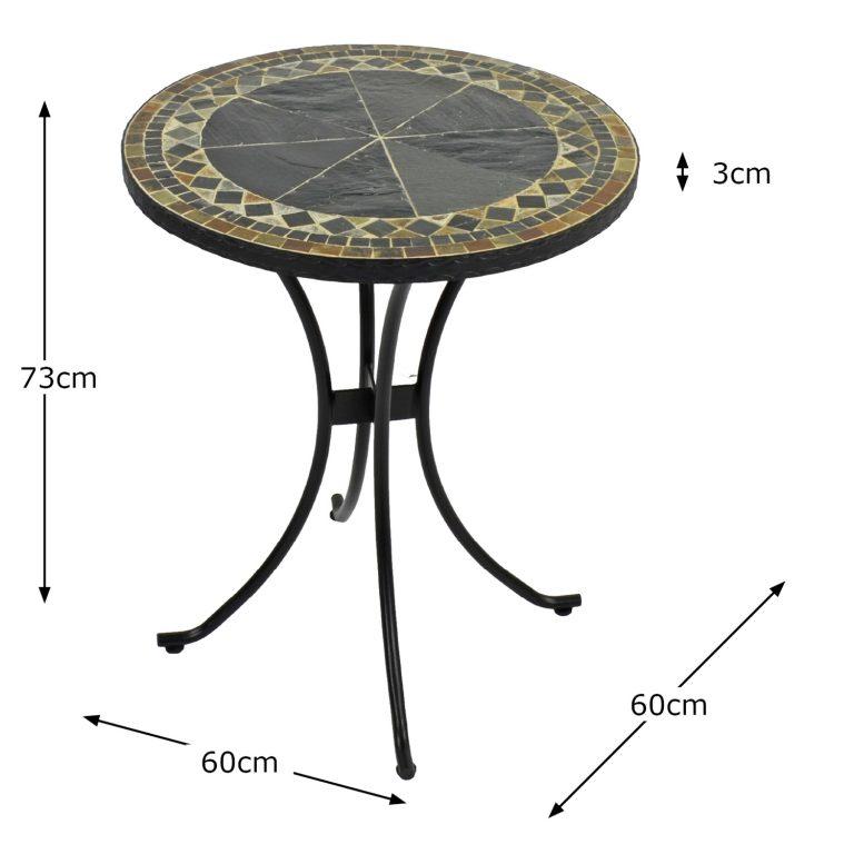 CLERMONT 60CM BISTRO TABLE DIMENSION MS1