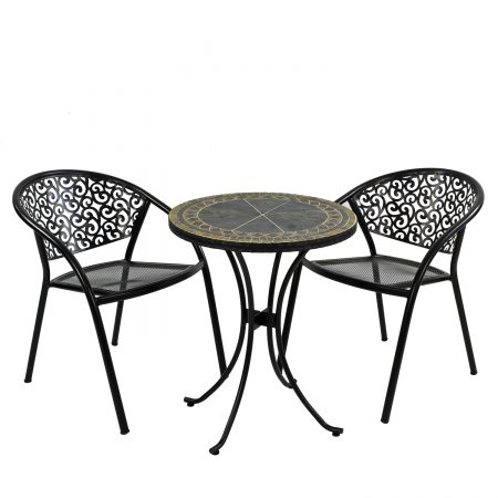 CLERMONT 60CM BISTRO WITH 2 FLORENCE CHAIR SET
