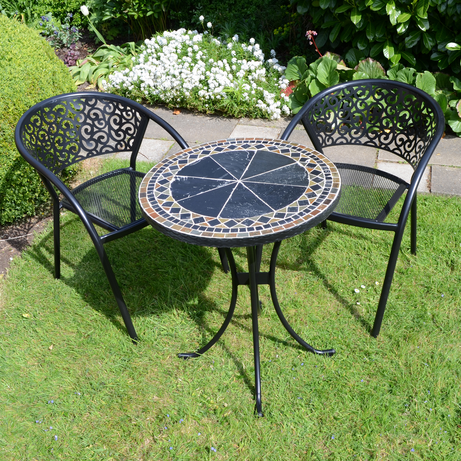 CLERMONT 60CM BISTRO WITH 2 FLORENCE CHAIRS SET LG1