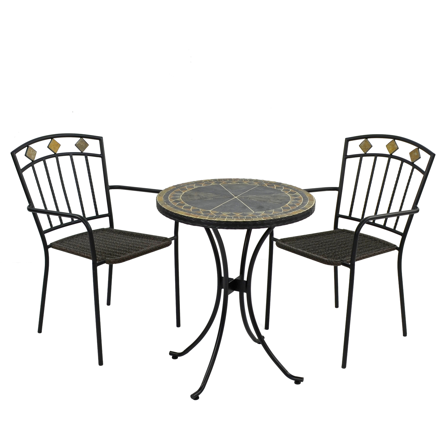 CLERMONT 60CM BISTRO WITH 2 MALAGA CHAIR SET