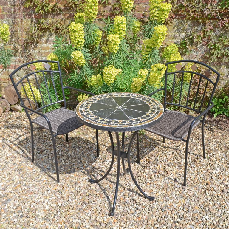 CLERMONT 60CM BISTRO WITH 2 MALAGA CHAIRS SET LG1