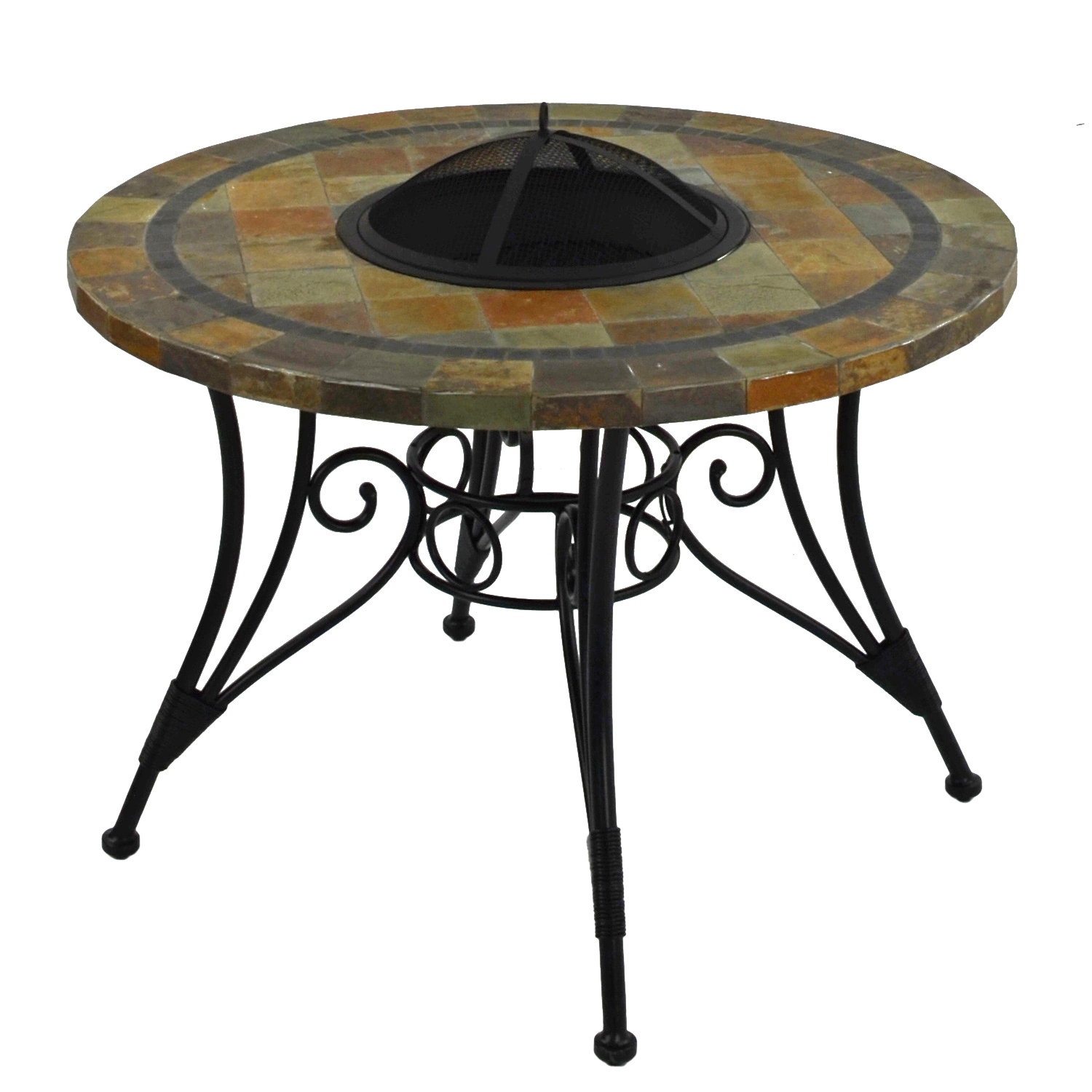 COLORADO 107CM FIRE PIT TABLE PROFILE 1
