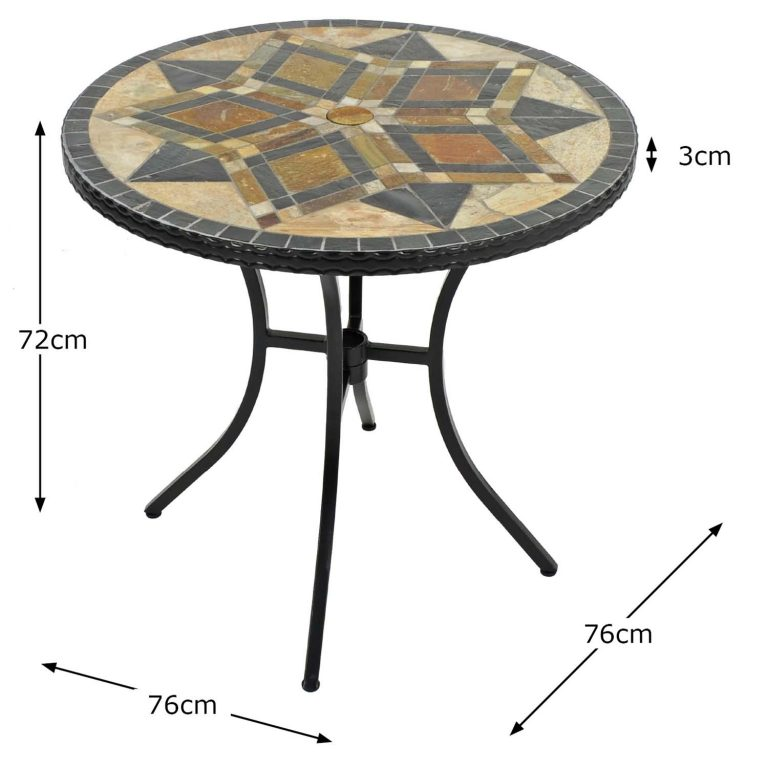 DARWIN 76CM BISTRO TABLE DIMENSION MS1