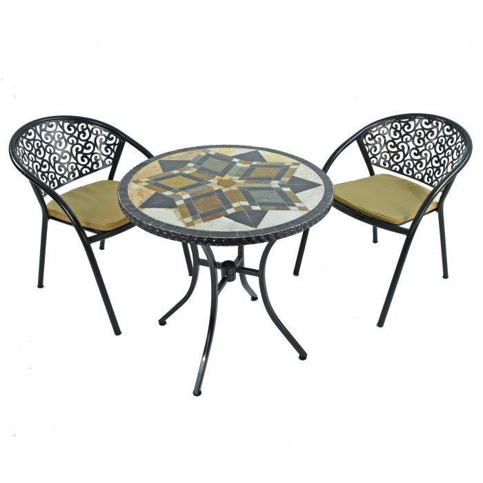 DARWIN 76CM BISTRO WITH 2 FLORENCE CHAIRS SET WS1