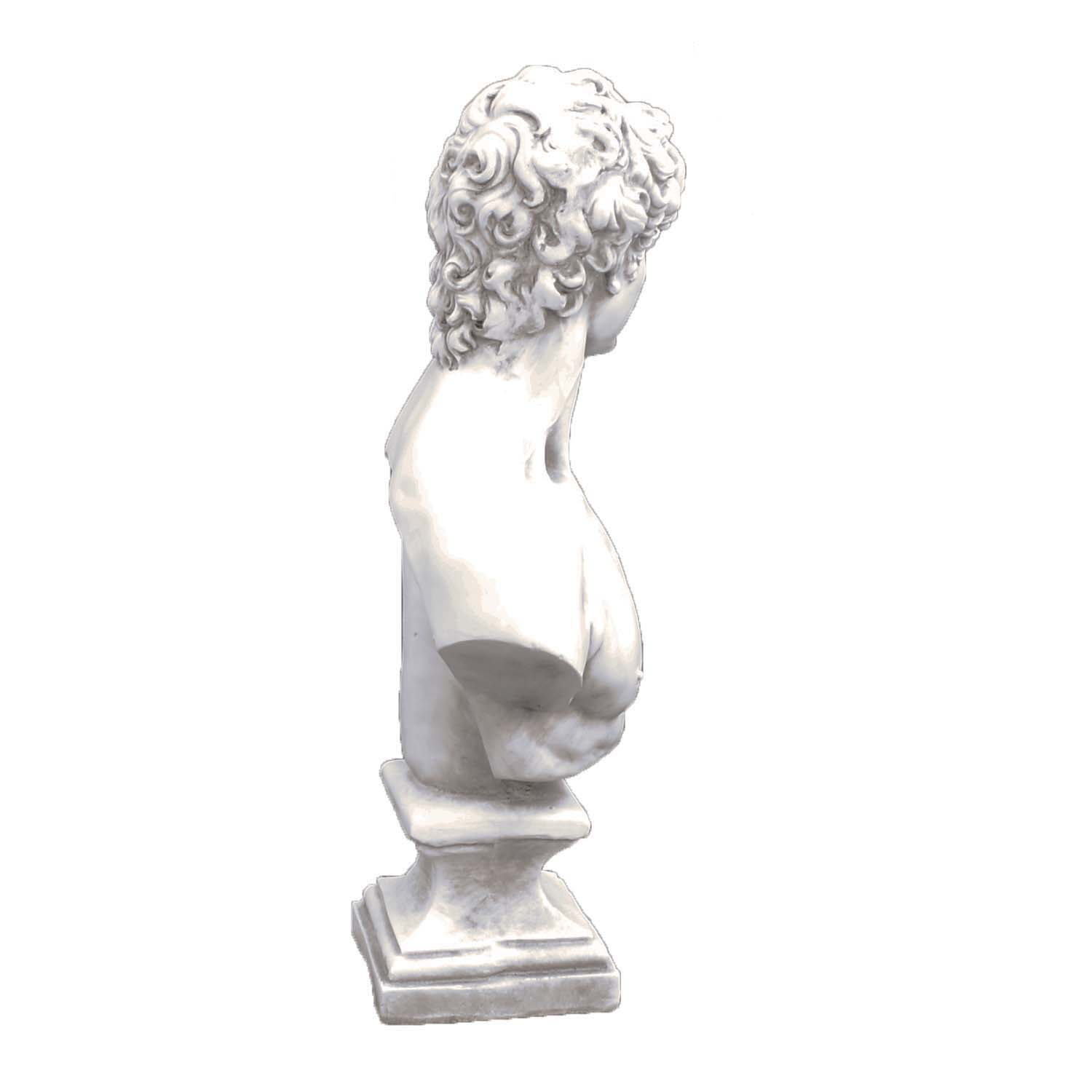 DAVID BUST 59CM WHITE STONE EFFECT RIGHT