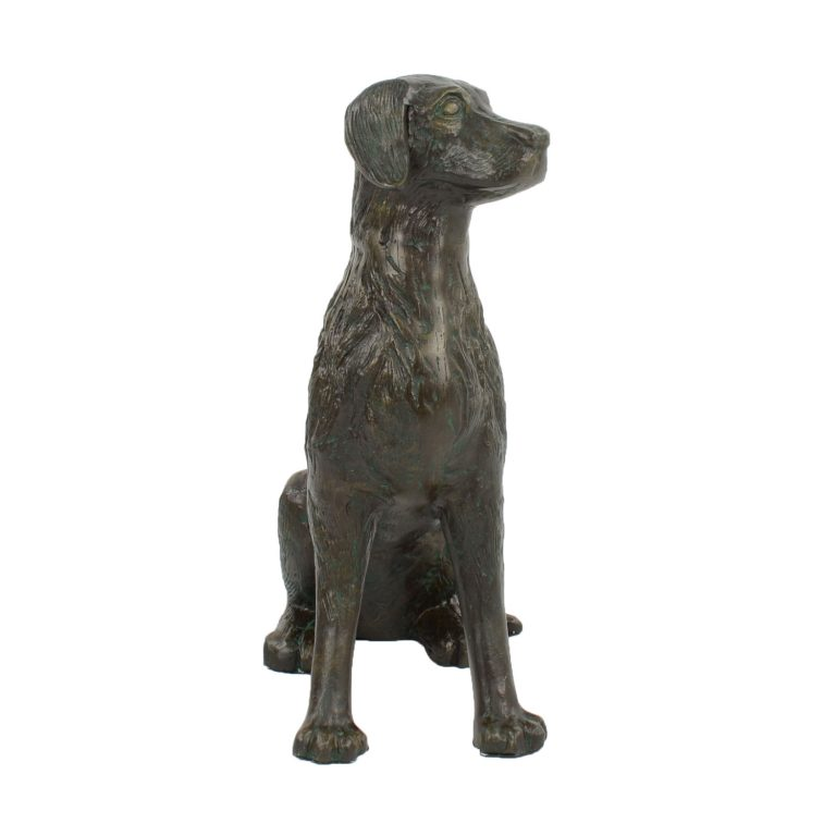DOG 56CM ALUMINIUM DARK VERDIGRIS FRONT RIGHT