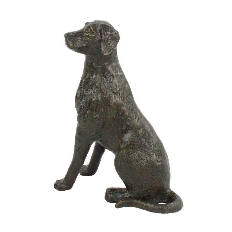 DOG 56CM ALUMINIUM DARK VERDIGRIS LEFT